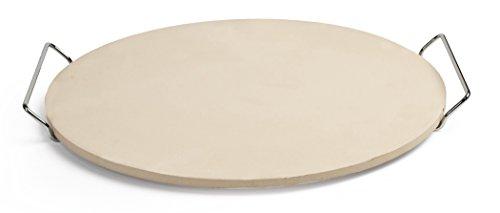 Pizzacraft ronde pizzasteen met draadframe 38 cm, beige, 4,9 x 41 x 40.69 cm, PC0001