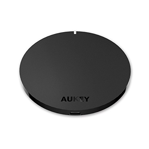 Aukey Qi Wireless Charger for All Qi-Enabled Devices - Black
