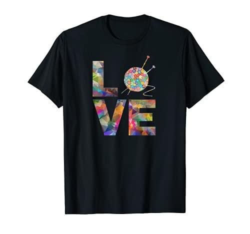 Tejedora regalo de punto, ganchillo Amor Yarn Patrones de Camiseta