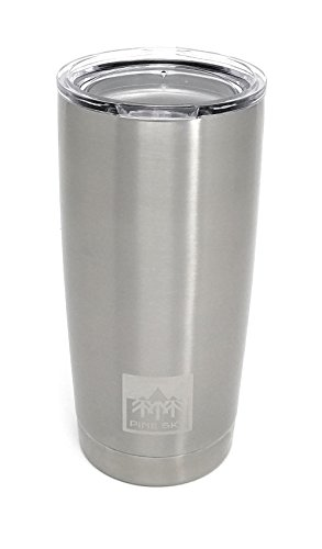 20oz Traveler Tumbler by Pine Sky, Premium Stainless Steel Vacuum Insulated Cup Keeps Drinks Super Hot and Ice Cold - Slate