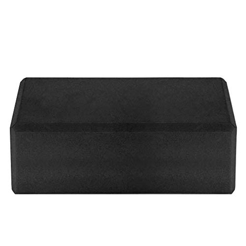 Lixada 1PCS / 2PCS EVA Yoga Blocks,Bloque de Espuma Correa Superficie Antideslizante sin Látex para la Meditación Yoga Pilates (Negro, 1Pcs)