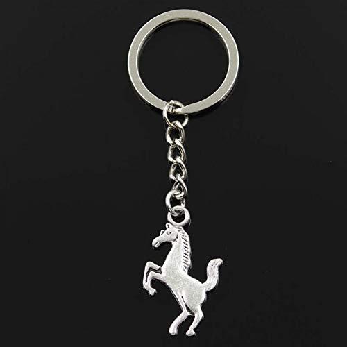 ZHTTCD Fashion Sleutelhanger 35x21mm galop paard staal zilveren hangers DIY Mannen Sieraden Auto Sleutelhanger Ring Houder Souvenir Voor Gift