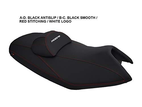 Funda de Asiento para Kymco Xciting 250 Negro-Blanco