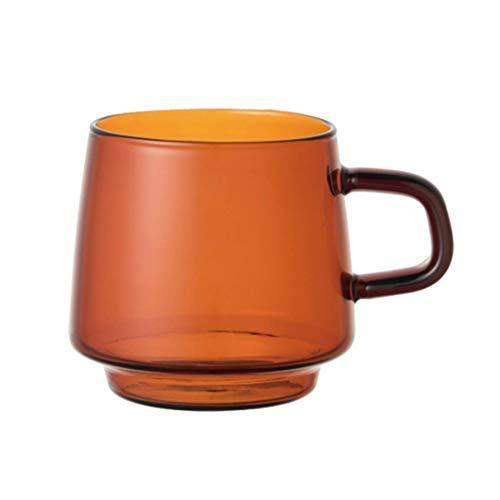 Tasses à café Tasse de café Tasse de café de thé Tasse de café en céramique rétro tasse de café tasse résistant à la chaleur tasse en verre brun tasse de café avec tasse de poignée