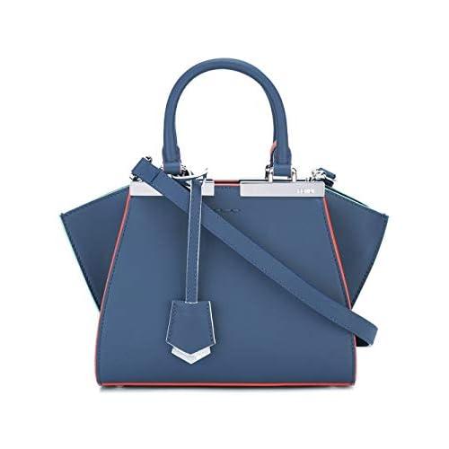 Fendi Luxury Fashion Donna 8BH3335QTF04QL Blu Borsa A Mano | Stagione Permanente