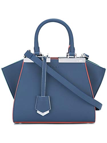 Fendi Luxury Fashion Donna 8BH3335QTF04QL Blu Borsa A Mano | Stagione Permanente