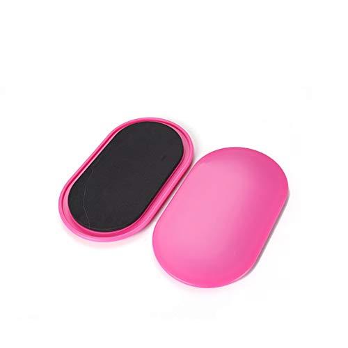 YULAN Pilates Deslizamiento del Disco de Fitness, Nalga, Mujer de Pilates, pisar el núcleo Abdominal, deslizando Chaleco de Entrenamiento, aparatos de Gimnasia, Inicio (Color : Pink, Size : Oval)