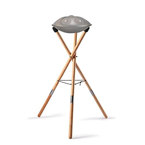 Snare Ständer Holz Handpan-Ständer Verstellbar Teleskopisch Stativkonstruktion Universal 10-14 Zoll Ethereal Drum Stand für Erwachsene und Kinder
