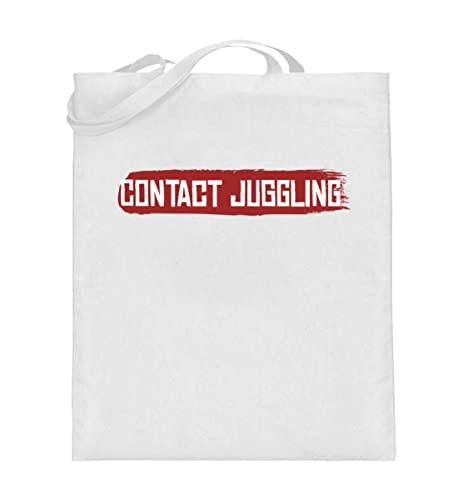 Generisch Jongleurballs 01465 - Bolsa de yute (con asas largas), Blanco, 38cm-42cm
