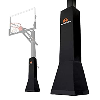 Goalrilla Deluxe Weatherproof Basketball Pole Pad for Ultimate Protection and Player Safety  Black