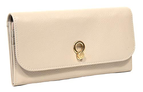 Radley Large Flapover Matinee Purse Wellesley Road in Ivory Grey Leather
