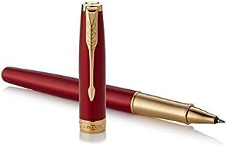 Parker Sonnet Rollerball Pen, Fine Point Black Ink, Premium Red & Gold (1948085)