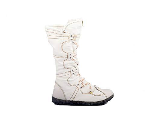 TMA 2018 Modische Damen Winter Stiefel gefüttert weiß Leder alle Größen 36-42 EUR 40