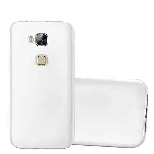 Cadorabo Funda para Huawei G7 Plus / G8 / GX8 en Metallic Plateado - Cubierta Proteccíon de Silicona TPU Delgada e Flexible con Antichoque - Gel Case Cover Carcasa Ligera
