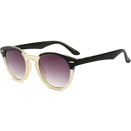 VEVESMUNDO leesbril UV-bescherming dames heren retro ronde veerbeugel zon getint leeshulp visueel bril bril met sterke 1.0 1.5 2.0 2.5 3.0 3.5 4.0