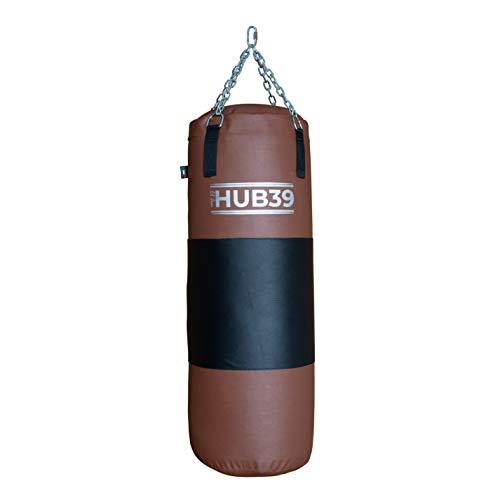 Hub39 Saco de boxeo con banda de cuero de 50 kg