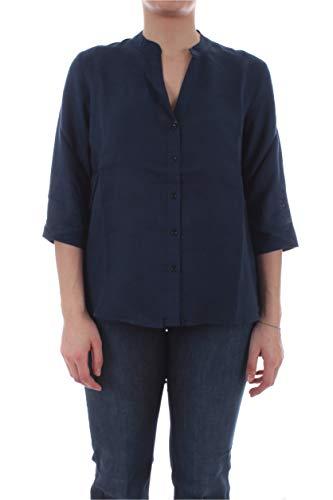 Persona by Marina Rinaldi Biga Camicia in lino da Donna blu Marino,11121500