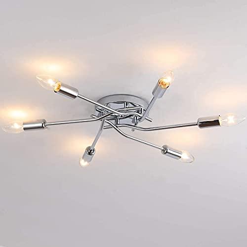 Lámpara de Techo Cromo Lámpara de Dormitorio Luz de Techo Moderna de...