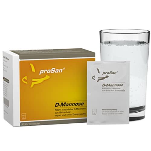 proSan D-Mannose Pulver in praktischen Einzeldosen, vegan, ohne Zusatzstoffe, 100% naturbelassen aus Birke