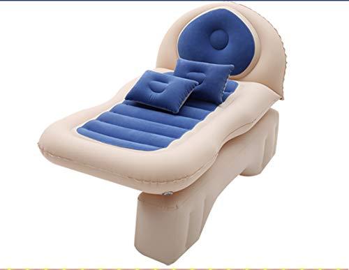 OUYA Colchón de Aire SUV para Coche, cojín para Dormir de Viaje colchón Hinchable electrico de Aire Doble para Acampar al Aire Libre colchones y Accesorios,Azul
