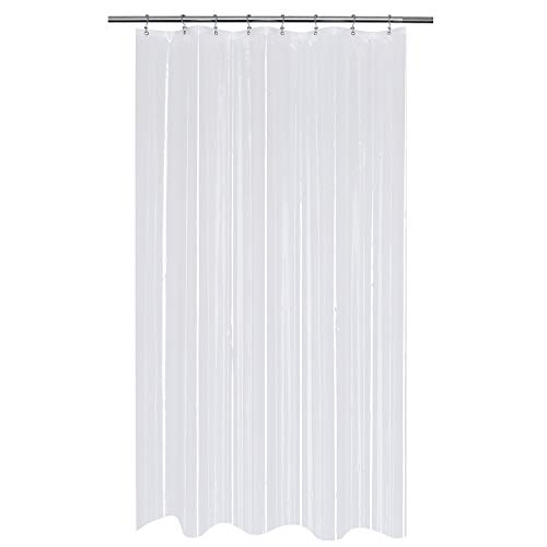 Mrs Awesome Stall Shower Curtain or Liner 48 x 72 inch, Clear PEVA 8G, Water Proof, Non-Toxic and Odorless