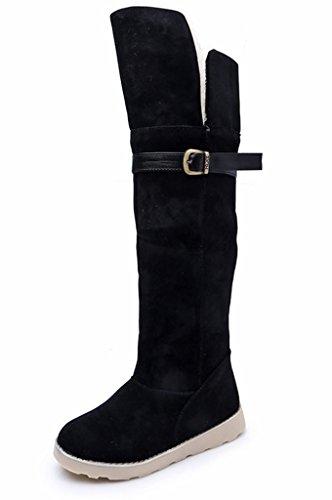 Fortuning's JDS Señoras de Las Mujeres Invierno Impermeable Antideslizante Peludo Terciopelo Termal de algodón Botas Madre Zapatos Botas para la Nieve