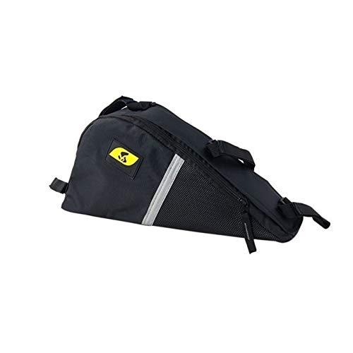 Nueva bolsa de sillín de bicicleta Ciclismo Bolsa delantera impermeable Triángulo al aire libre Bicicleta Tubo delantero Bolsa Montaña Bike Bike Frame Bag Accesorios ( Color : Black , Size : 13 )