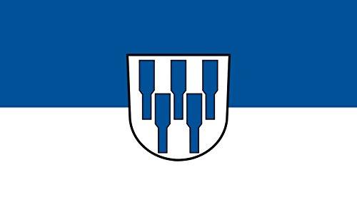 Unbekannt magFlags Tisch-Fahne/Tisch-Flagge: Obersontheim 15x25cm inkl. Tisch-Ständer