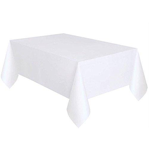 Tovaglia rettangolare in raso, per banchetti, matrimoni, 137, 274 cm, colore: bianco