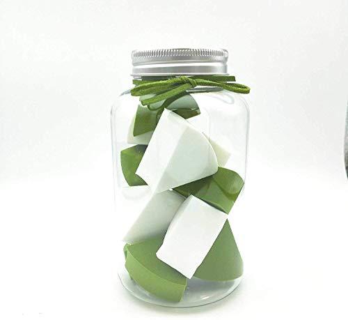 Detazhi Super Soft Petit Ventilateur en Forme de Bonbons Puff Conserve Clean No Jam Fond de Teint Poudre œufs 12 Bouteilles 4.5cm / Blanc Rose (Color : White Green, Size : 4.5cm)