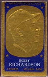 1965 Topps Embossed (Baseball) Card# 65 Bobby Richardson of the New York Yankees Ex Condition