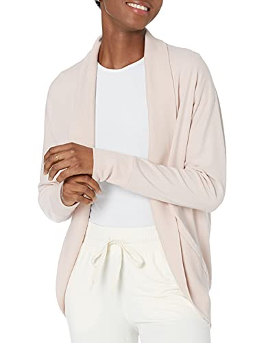 Daily Ritual Terry Cotton and Modal Cocoon Sweatshirt Novelty-Athletic-Sweatshirts, Rosa, US S (EU S - M)
