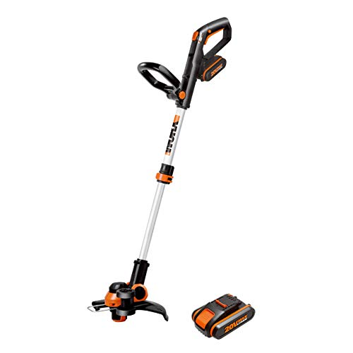 WORX WG163E.9 20V 2-in-1 Trimmer/Edger, Command Feed, Battery and Charger Sold Separately 20V Li-ion Line/Grass Trimmer
