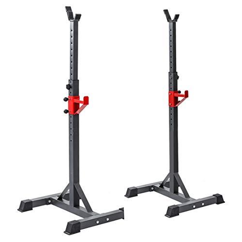 AKT Einstellbar Squat Rack Langhantelständer 16 Höhenverstellung Bodybuilding Gym Gewichtheben Schwere Unterstützung Laden Sie 100 kg, 1 Paar, Schwarz
