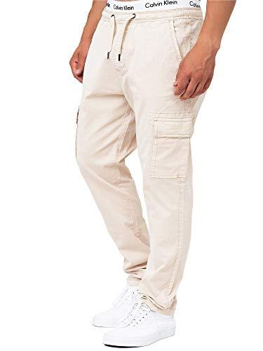 Indicode Herren Broadwick Cargohose aus Baumwolle mit 6 Taschen | Lange Regular Fit Cargo Hose Baumwollhose Freizeithose Wanderhose Trekkinghose Pants Outdoorhose für Männer Fog XL