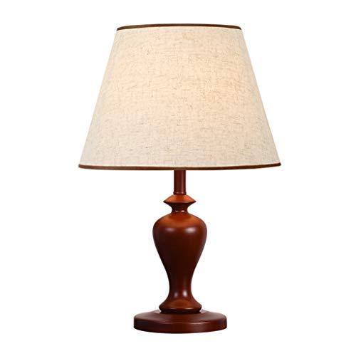 YITIANTIAN Lámpara de Mesita de Noche Moderno Nuevo Chino Lámpara de Mesa de Madera Dormitorio Lámpara de cabecera Diseño Simple Líneas Suaves Lámpara de Mesa de Dormitorio Moderna