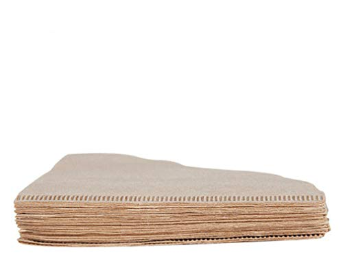 PULABO Kaffeefilterpapier kegelförmige Einweg-Filterpapiere aus Naturholz 40 Stück Umweltfreundlich und praktisch dauerhaft