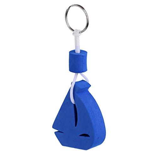 perfk Schwimmender Schlüsselanhänger mit Schlüsselringe Wassersport Segelboot Form - Blau