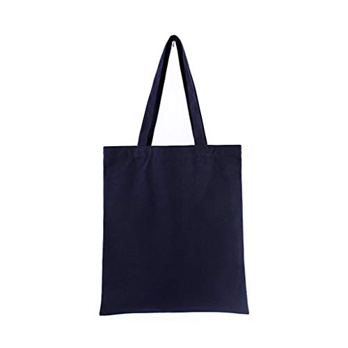 VIccoo Durable Canvas Blank Grocery Plain draagtassen schoudertas herbruikbare boodschappentas - geel