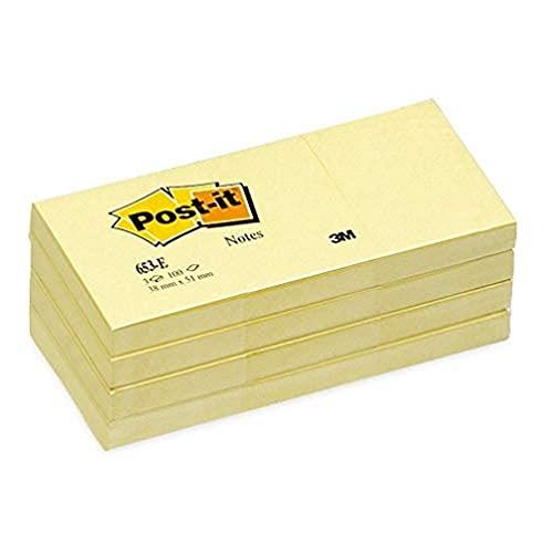 Post-it Haftnotizen 653E 51 x 38 mm gelb 12 Blöcke à 100 Blat