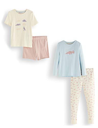 Amazon-Marke: RED WAGON Mädchen Pyjama-Set aus Baumwolle, 2er-Pack, Mehrfarbig (Unicorn), 110, Label:5 Years