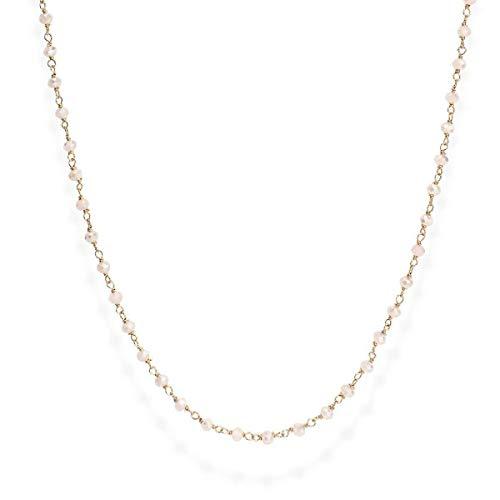 Collana donna in argento 925 AMEN Romance CLRR45 cristalli rosa collane