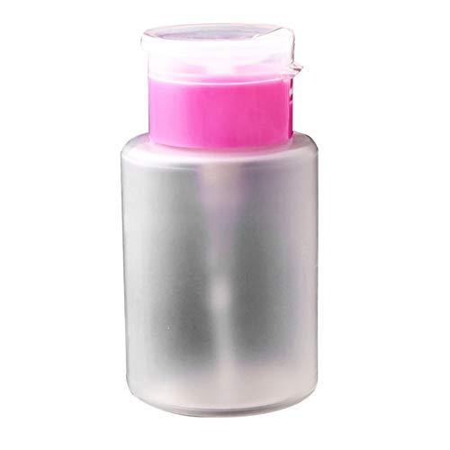 Minkissy Dissolvant pour Vernis à Ongles Bouteille Presse en Plastique Plastique Rechargeable Vide en Plastique pour Savon Liquide Shampoing Lotions 150 Ml Rose