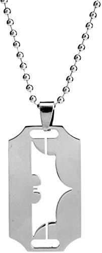 JIUJIN Mode Klinge Rasiermesser Halskette Perlen Kette Hohl Fledermaus Geformt Anhänger Halskette Zubehör