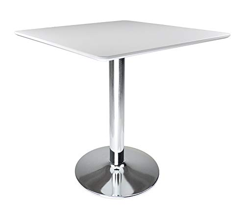 SAMIRA Tavolo Quadrato 70x70 Bianco, tavolino da Bar MOD. Romeo