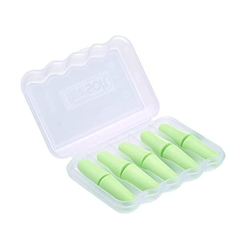 Kinbontop zachte schuimoordopjes, 38dB SNR, ruisonderdrukking, gehoorbescherming – groen (5-pack)