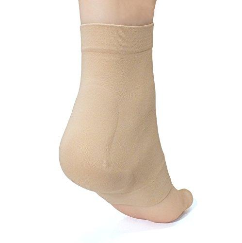 ZenToes Achilles Tendon Heel Protector Compression Padded Sleeve Socks for Bursitis, Tendonitis, Tenderness - 1 Pair