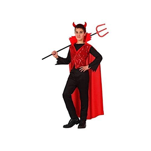 Atosa - 10577 - Disfraz Demonio para niño infantil - talla 5 a 6 Años - color rojo