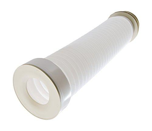 Sanitop-Wingenroth 21339 4 WC-Anschlussrohr, 520 mm | Weiß flexibel