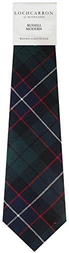 I Luv Ltd Gents Neck Tie Russell Modern Tartan Lightweight Scottish Clan Tie
